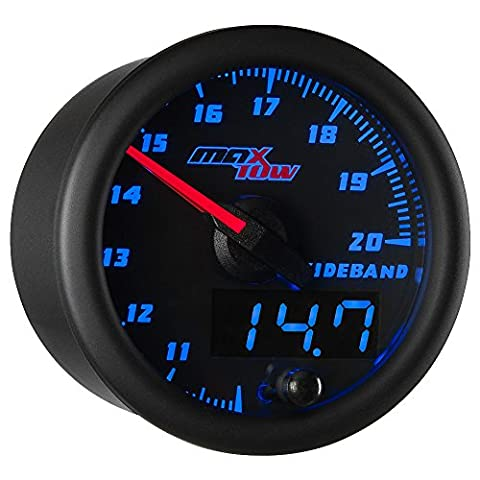 Black & Blue MaxTow Wideband Air/Fuel Ratio Gauge with Bosch 4.9 LSU Oxygen Sensor and Data Logging - Fuel Ratio Gauge Kit