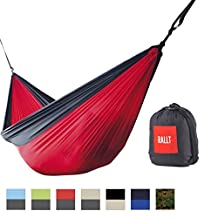 Rallt Camping Hammock - Ripstop Parachute Nylon, Lightweight & Portable, Includes Hanging Gear