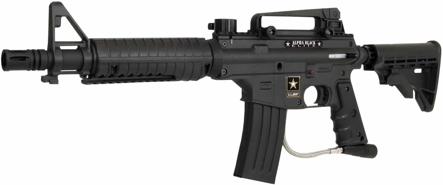Amazon Com Us Army Alpha Elite Paintball Marker Black Paintball Guns Sports Outdoors