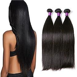 Wendy Hair Brazilian Full Ends 9A Straight Hair Weaving 10 inch Bundle Natural Black 1 Pcs 100g Hair Extensions