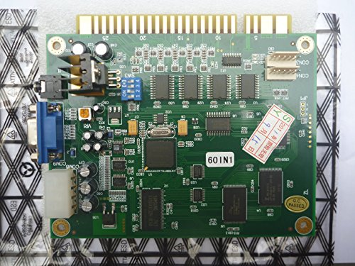 Sintron] Classical Arcade Video Game 60 in 1 Pcb Jamma Board Cga/vga Output ()