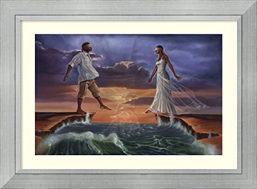 Framed Art Print 'Step Out on Faith 'Love'' by WAK-Kevin A. Williams by Amanti Art