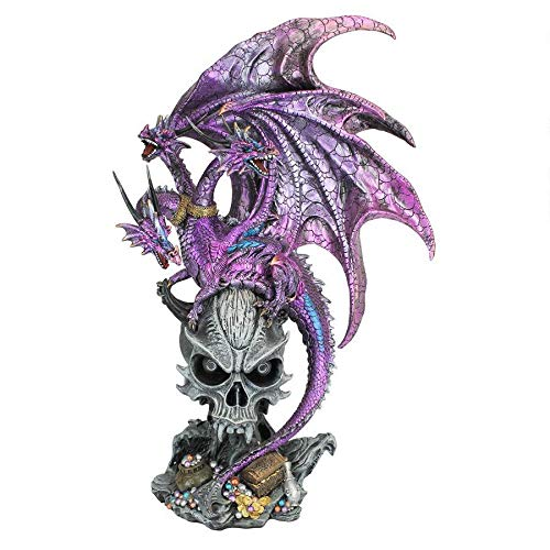 Design Toscano Hydra of Lerna Mythical Dragon Statue, Full Color