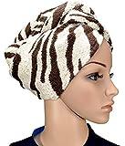1 x Haarpunzel Turban Haartrockentuch Handtuch Kopftuch Farbe: Zebra