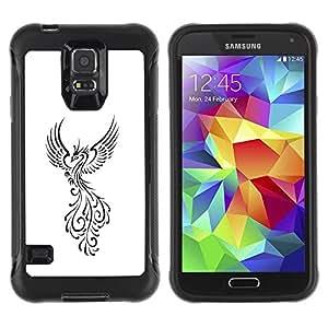 Suave TPU GEL Carcasa Funda Silicona Blando Estuche Caso de protección (para) Samsung Galaxy S5 V / CECELL Phone case / / Fire Bird Decal Minimalist White /