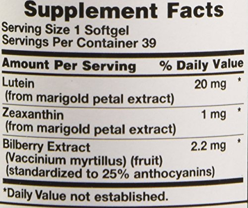 Nature's Truth Lutein 20 mg Plus Zeaxanthin and Bilberry Capsules, 39 Count by Nature's Truth (Image #2)