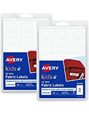 Avery No-Iron Kids Clothing Labels, Washer & Dryer Safe, Assorted Shapes & Sizes, 90 Labels (40700), Pack of 2