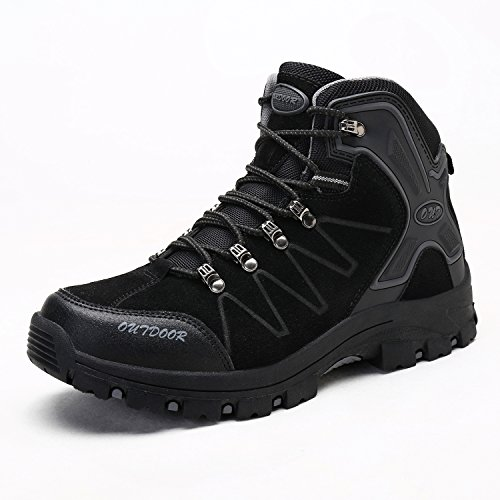 Image of Men's Mid Trekking Hiking Boots Outdoor Hiker Winter Boots