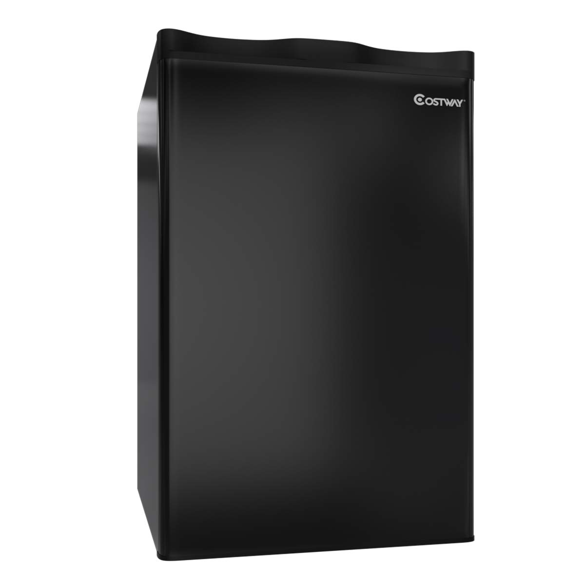 COSTWAY Compact Refrigerator, 3.2 cu ft. Mini Refrigerator Unit Small Single Door Freezer Cooler Fridge for Dorm, Office, Apartment (Black) by COSTWAY