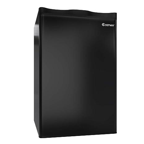 Amazon.com: COSTWAY Compact Refrigerator, 3.2 cu ft. Mini ...
