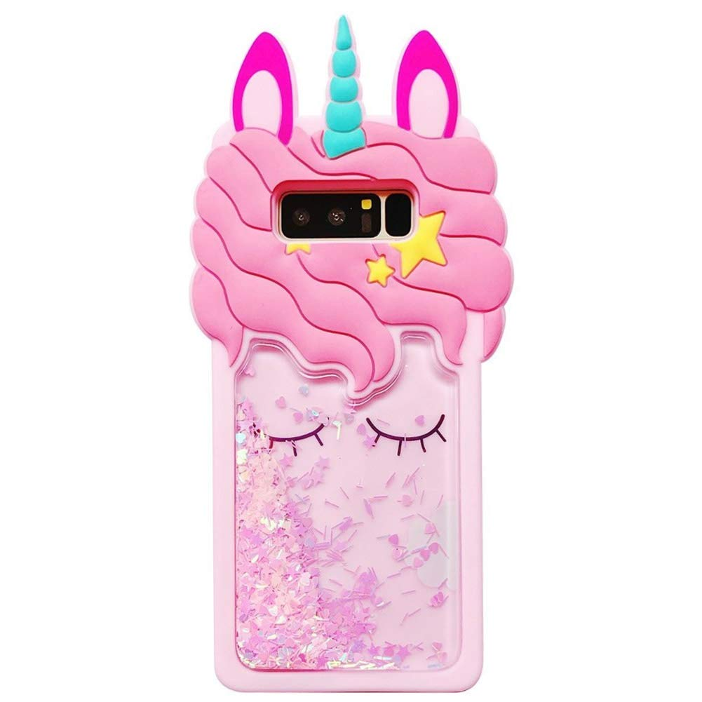 Amazon.com: Cute 3D Pink Bling Unicorn Dynamic Quicksand ...