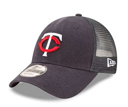 more photos be86e eade9 Image Unavailable. Image not available for. Color  New Era MLB Minnesota  Twins Trucker 9Forty Adjustable Baseball Hat ...