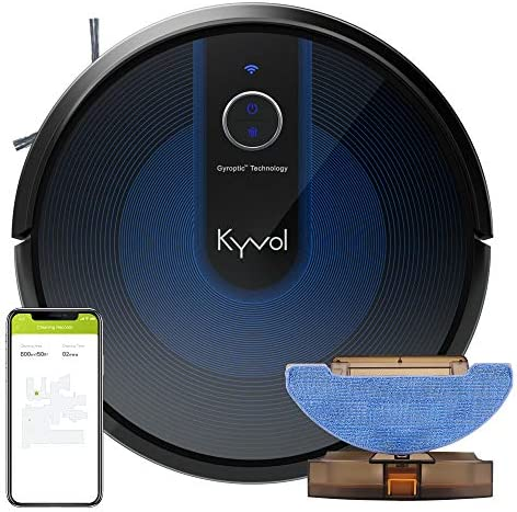 Kyvol Cybovac E31 Robot Vacuum, Sweeping & Mopping Robot Vacuum Cleaner with 2200Pa Suction, Smart Navigation, 150 minutes Runtime, Works with Alexa, Self-Charging, Ideal for Pet Hair, Floor and Carpets