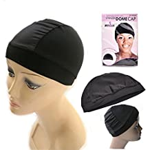 Stretchable Spandex Dome Style Wig Cap Professional Style Black One Size Fits Most Products Your Hair (1 Pcs Dome Cap)