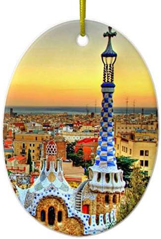 Tamengi Figura Decorativa de cerámica con diseño del Parque Barcelona España: Amazon.es: Hogar