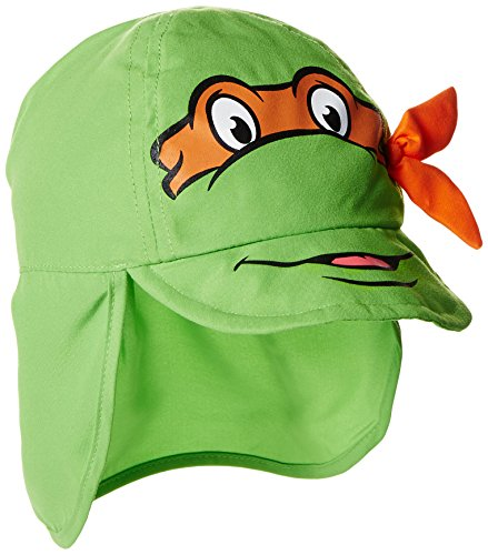 Nickelodeon Teenage Mutant Ninja Turtles Little Boys' TMNT Baseball With Neck Cover, Green, 12-24 (Ninja Turtle Hats And Gloves)