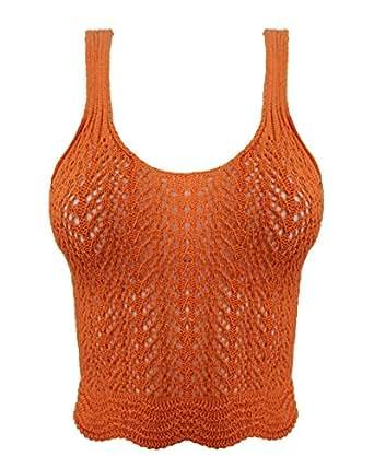 Generic - Camiseta de tirantes - para mujer Marrón Herrumbre M/L-40 /42
