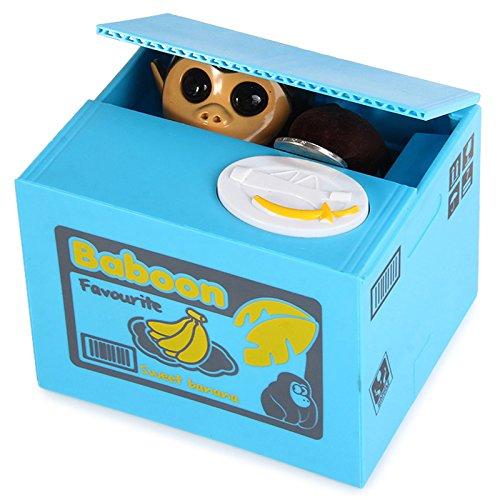 LOBZON Automated Monkey Coin Box Money Saving Box