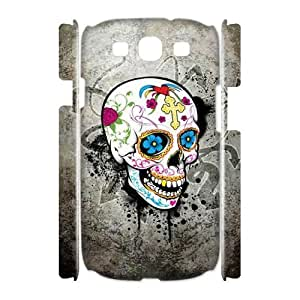 ALICASE Cover Case Skull 3D Diy For Samsung Galaxy S3 I9300 [Pattern-1]