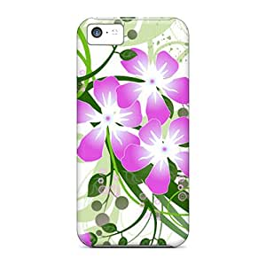 LisCFrazi Iphone 5c Well-designed Hard Case Cover Flowers Protector
