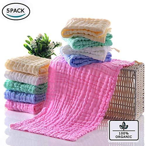 BELIZ - 100% Organic Cotton Muslin Baby Burp Cloths 10