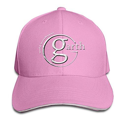 SUNNY fish6hh Unisex ajustable Garth Brooks Logo Gorras de béisbol sombrero talla única, Rosado, Talla única