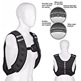 FITNESS MANIAC Weight Vests 10 lb15 lbs 20-Pound Weighted Vest Gym Weight Training Running Adjustable Strap Jacket Weight Fitness Gym Weight Loss Body Workout Vest with Water Bottle Holder