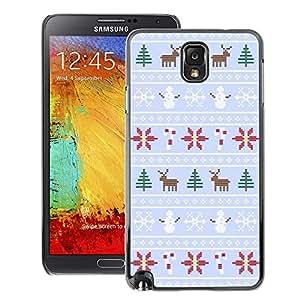A-type Arte & diseño plástico duro Fundas Cover Cubre Hard Case Cover para Samsung Note 3 N9000 (Winter Reindeer Snowman Sweater Xmas)