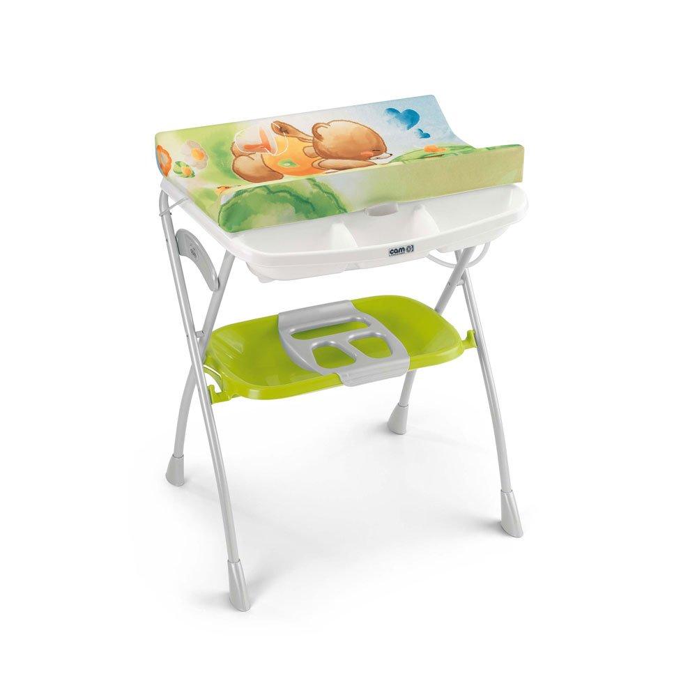 CAM Il Mondo del Bambino Wickeltisch mit Wanne - Modell: Volare - C203008 grün