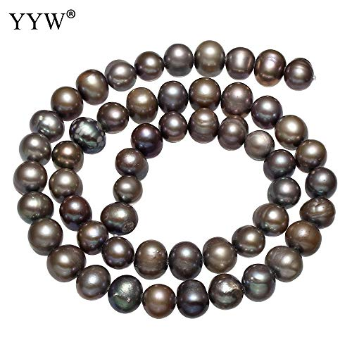 Calvas Cultured Potato Freshwater Pearl Beads Purple 8-9mm Approx 0.8mm Sold Per Approx 14 Inch Strand