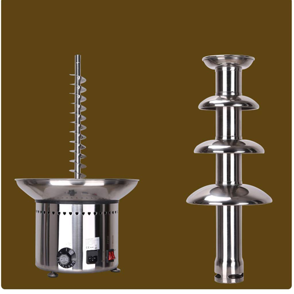 Socean Commercial chocolate fountain, waterfall machine five-layer spray tower automatic temperature control stainless steel kettle fountain waterfall. by Chocolate Fountain (Image #2)