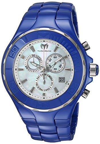 Technomarine Men's 'Cruise' Quartz Ceramic Casual Watch, Color:Blue (Model: TM-115321)