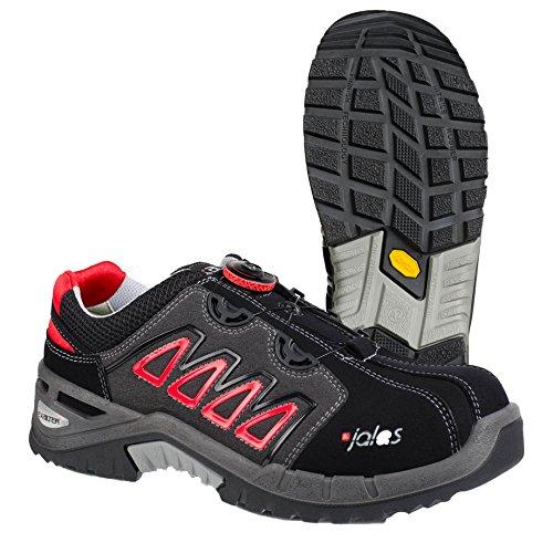 """Ejendals 9548–42taglia 42""""JALAS 9548exalter Easyroll"""" sicurezza scarpe, colore: nero/grigio/rosso"""