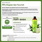 Organic Aloe Vera Gel with 100% Pure Aloe From