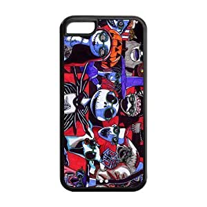 03-Large and Small Damasks-Pattern- Case for the APPLE IPHONE 6 ONLY!!!-NOT COMPATIBLE WITH THE IPHONE 6 PLUS!!!-Hard White Plastic Outer Case WANGJING JINDA
