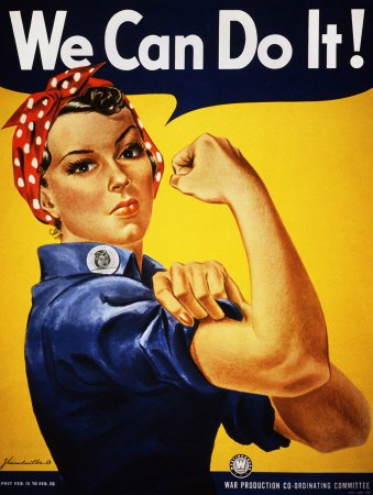 We Can Do It! Rosie the Riveter Art Poster Print by J. Howard Miller