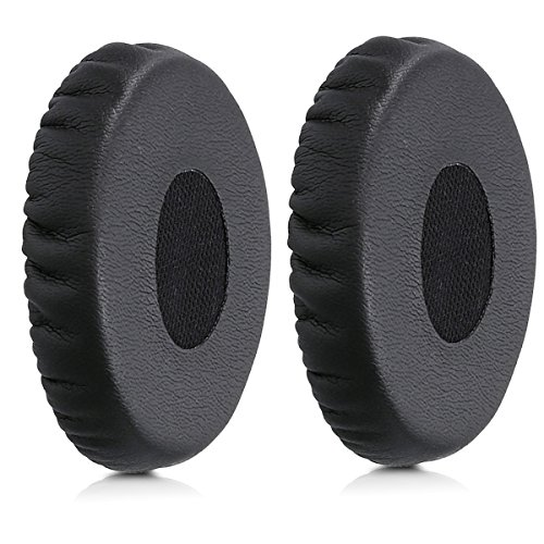 kwmobile 2x earpads for Bose OE2 / SoundTrue OE Earphones - Leatherette replacement ear pad for Bose Headphones - black by kwmobile