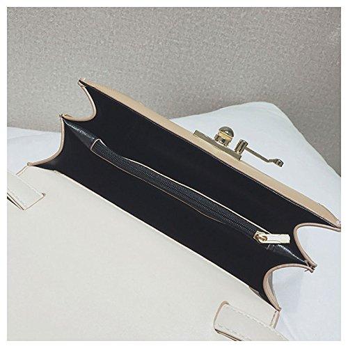 Brown Mode ASDYY Petit La Sac Personnalité Paquet Carré Rivet Unique Version Marée Oblique épaule Coréenne Cross Paquet Cent Petit De H8wqHrg