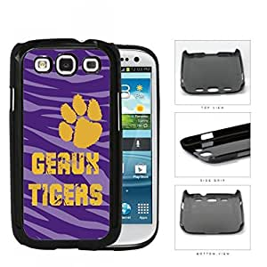 Geaux Tigers School Spirit Slogan Chant Samsung Galaxy S3 I9300 Hard Snap on Plastic Cell Phone Cover