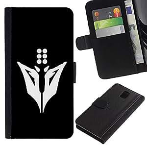 NEECELL GIFT forCITY // Billetera de cuero Caso Cubierta de protección Carcasa / Leather Wallet Case for Samsung Galaxy Note 3 III // Minimalista Animal