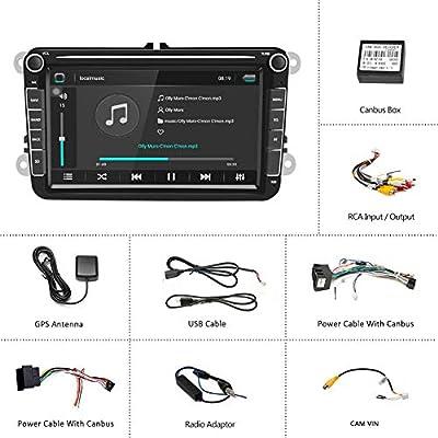 HOTEU - Radio estéreo para Coche de 8 Pulgadas, navegación GPS iOS ...