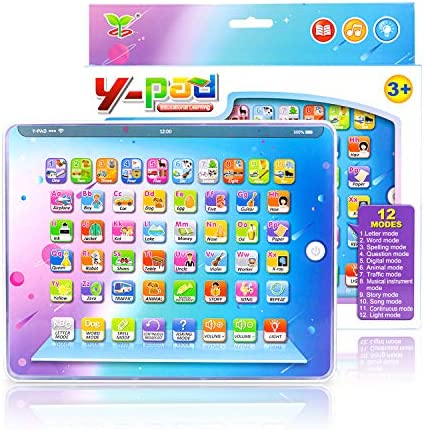 PETPLUS Kids Learning Tablet ToysSafety Eye Protection Screen Tablet - Educational Preschool Toy Great Gift for Kids Toddlers Toy for Boys and Girls Ages 3 4 5 6 7