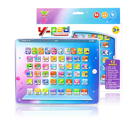 🥇 PETPLUS Kids Learning Tablet Toys with Safety Eye Protection Screen Tablet – Educational Preschool Toy Great Gift for Kids