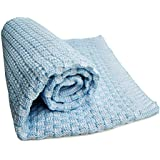 SonnenStrick 100% Organic Cotton Knitted Baby Blanket Made in Germany