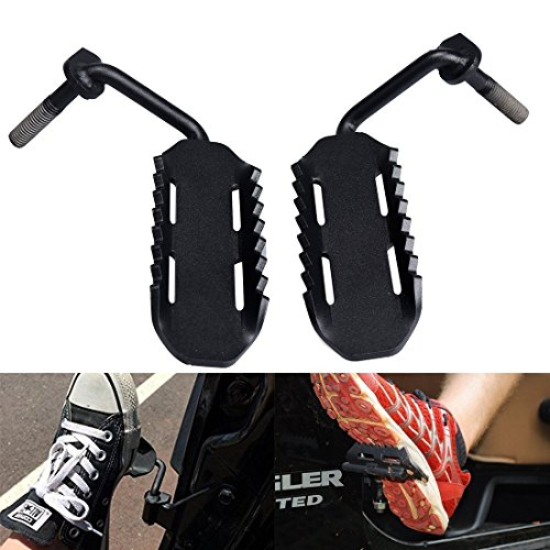 2 Pcs Black Steel Foot Pegs for 2007-2015 Jeep Wrangler