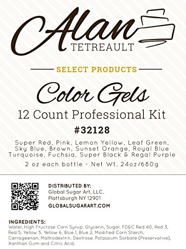 Food Coloring Professional Premium Food Color Gel Kit, Twelve Colors 2  Ounces by Chef Alan | PrestoMall - Baking ingredients