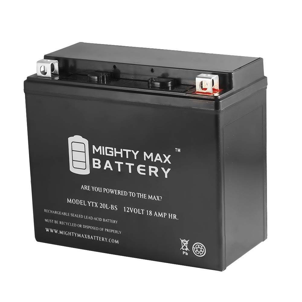 Mighty Max Battery YTX20L-BS Battery for Yamaha 660 YFM66FA Grizzly ' 2002-' 2008 Brand Product 4333386936