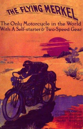 THE FLYING MERKEL MOTORCYCLE BIKE TWO SPEED LARGE VINTAGE POSTER REPRO -