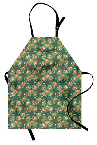 Ornaments In Russian Folk Costumes - Lunarable Floral Apron, Pattern in Russian