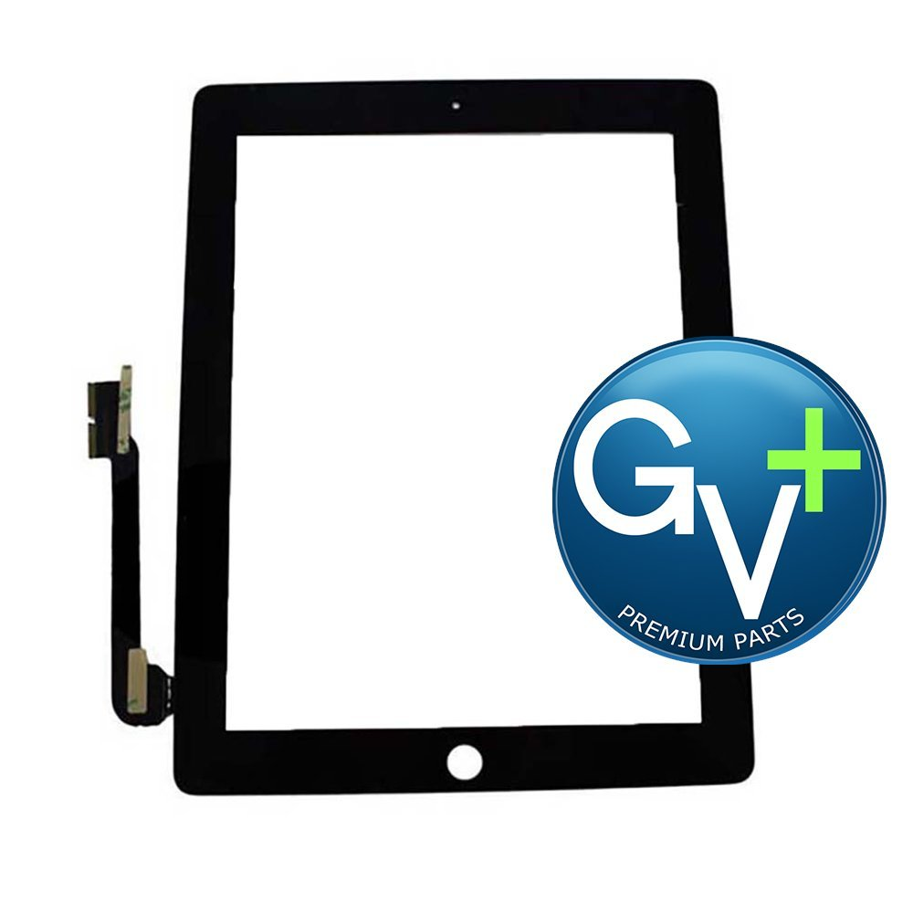 10 Pack - Touch Screen Digitizer for Apple iPad 3 and iPad 4 - GV+ - Black